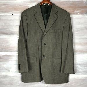 Joseph & Feiss Plaid Wool Blazer Jacket 42R